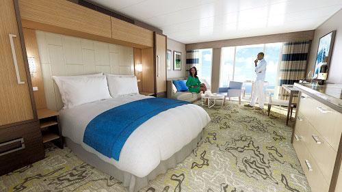 Una suite junior, sencillamente una maravilla en medio de un lujo moderno, tecnológico y no opulento. Ya nos vamos.